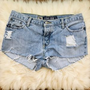 Low Rise Cruel Girl Shorts Button Fly